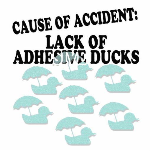 La falta de pegamento Ducks humor Escultura Fotográfica