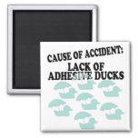 La falta de pegamento Ducks humor Imán