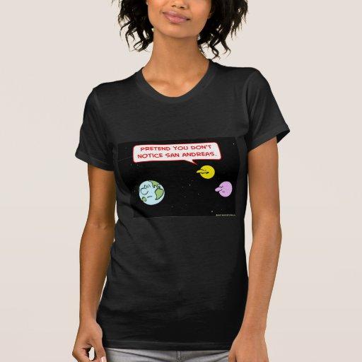 la falta de San Andreas del aviso de la luna de la Camisetas