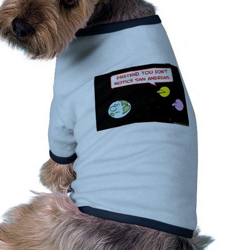 la falta de San Andreas del aviso de la luna de la Ropa Para Mascota