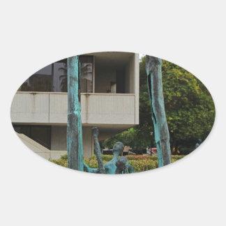 La Familia by Eduardo Oropeza I Oval Sticker