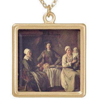 La familia campesina, 1642 (aceite en lona) pendiente personalizado