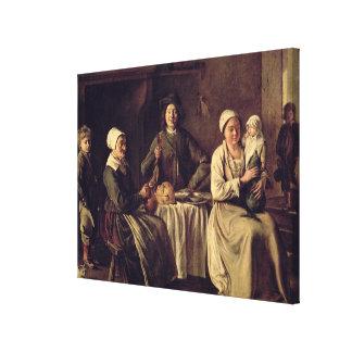 La familia campesina, 1642 (aceite en lona) lona envuelta para galerias