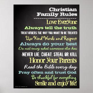 La familia cristiana personalizada gobierna la mue póster