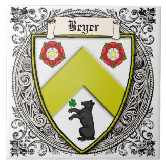 La familia de Beyer (Suiza/Sajonia) arma Azulejo Cuadrado Grande