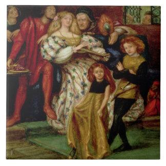 La familia de Borgia, 1863 Azulejo Cuadrado Grande