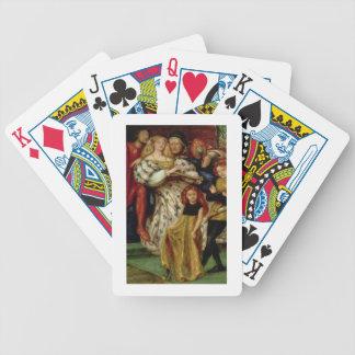 La familia de Borgia, 1863 Baraja Cartas De Poker