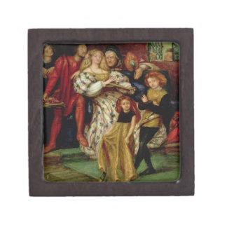 La familia de Borgia, 1863 Caja De Joyas De Calidad