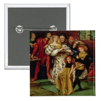 La familia de Borgia, 1863 Pin Cuadrada 5 Cm