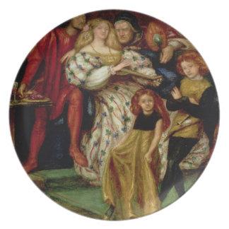La familia de Borgia, 1863 Plato