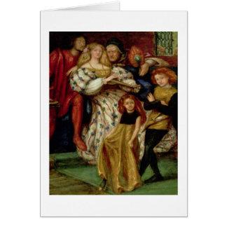 La familia de Borgia, 1863 Tarjeta De Felicitación