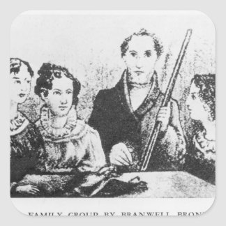 La familia de Bronte Pegatina Cuadrada