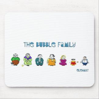 La familia de Bublle Alfombrillas De Ratón