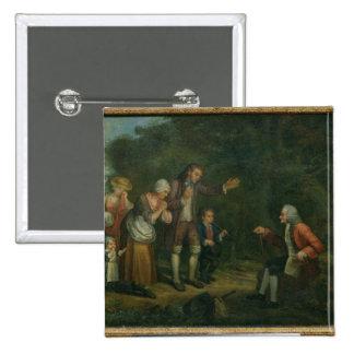La familia de Calas antes de Voltaire en Ferney Pin Cuadrada 5 Cm