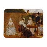 La familia de Chalon en su jardín de la ciudad de  Imanes