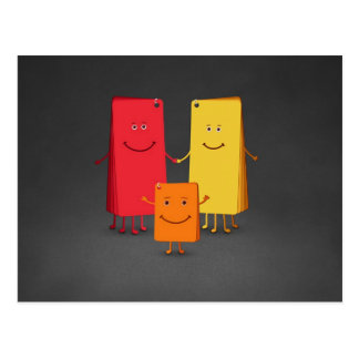 La familia de colores (3) postal