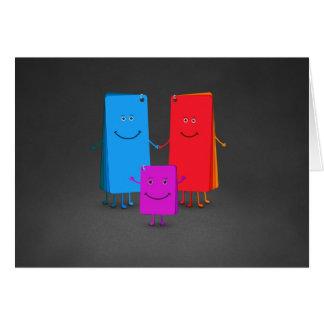 La familia de colores tarjeta de felicitación