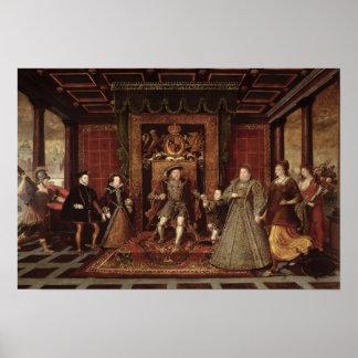 La familia de Enrique VIII: Póster