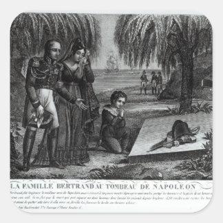 La familia de general Enrique-Gratien Bertrand Pegatina Cuadrada