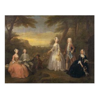 La familia de Jones, c.1730-1 Postal