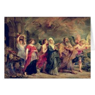 La familia de la porción que sale de Sodom, 1625 ( Tarjeta De Felicitación
