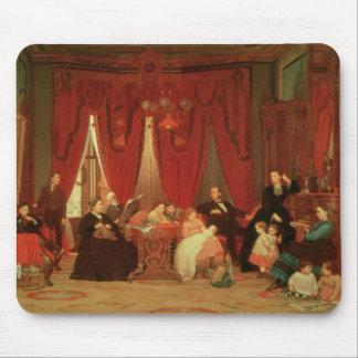 La familia de la portilla, 1870-71 alfombrilla de ratones