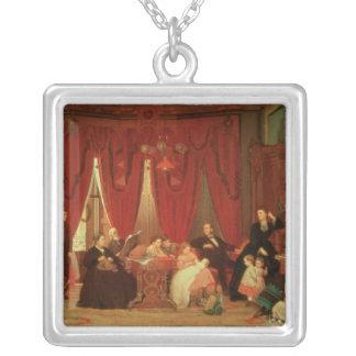 La familia de la portilla, 1870-71 colgante cuadrado