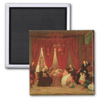La familia de la portilla, 1870-71 imán cuadrado
