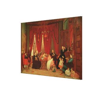 La familia de la portilla, 1870-71 impresiones en lona
