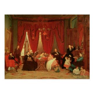 La familia de la portilla, 1870-71 postal