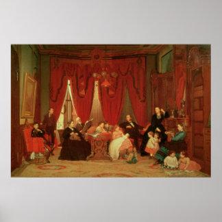 La familia de la portilla, 1870-71 póster