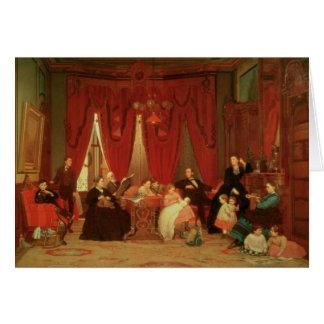 La familia de la portilla, 1870-71 tarjeta de felicitación