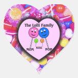 La familia de Lolli Pegatina Corazón