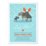 La familia de los ciervos del invierno junta la invitación 12,7 x 17,8 cm