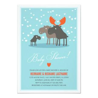 La familia de los ciervos del invierno junta la anuncios personalizados