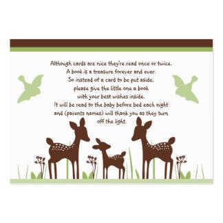 La familia de los ciervos del sauce con los pájaro plantilla de tarjeta personal