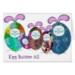 La familia de los conejitos del huevo añade su fot felicitaciones