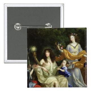 La familia de Louis XIV 1670 Pin Cuadrada 5 Cm