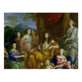 La familia de Louis XIV 1670 Tarjeta Postal