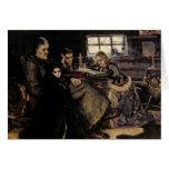 La familia de Menshikov en Beriozovo, 1883 Tarjeta De Felicitación
