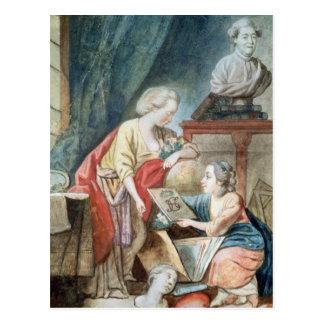 La familia de Necker en 1780 Postal