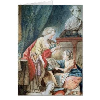 La familia de Necker en 1780 Tarjeta De Felicitación