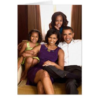 La familia de Obama Tarjeta De Felicitación