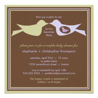 La familia de pájaro junta la lila y el sabio de l invitación