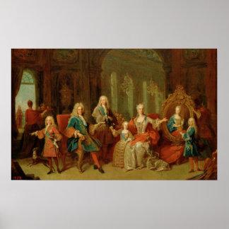 La familia de Philip V de Borbón, c.1722 Poster