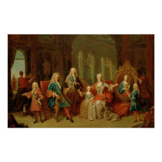 La familia de Philip V de Borbón, c.1722 Póster