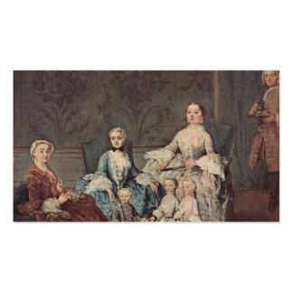 La familia de Sagredo de Pietro Longhi Plantillas De Tarjetas Personales