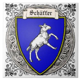 La familia de Schäffer (V. Peterzell) arma Azulejo Cuadrado Grande