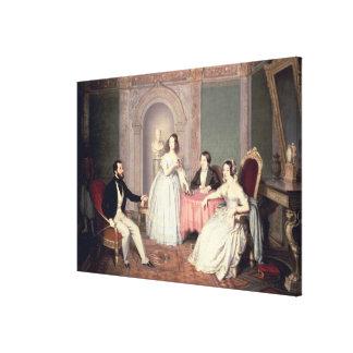 La familia del Ala de José Sigismondo del marqués Impresión De Lienzo