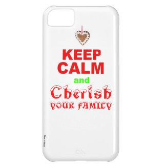 """La familia del amor """"guarda día de fiesta de Navid Funda Para iPhone 5C"""